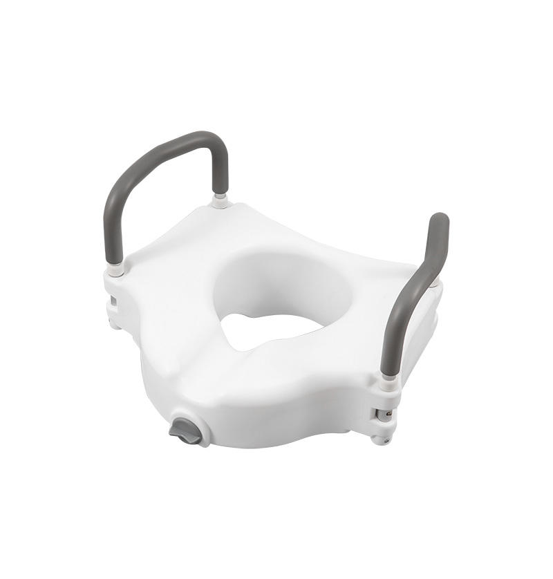 E-Z lock Raised toilet seat with handles, add 5' height