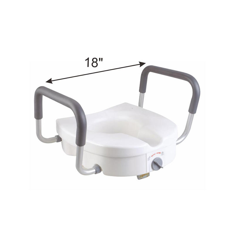 E-Z lock Raised Toilet Seat with handles
