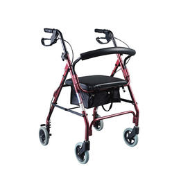 Aluminum Rollator with 6' casters