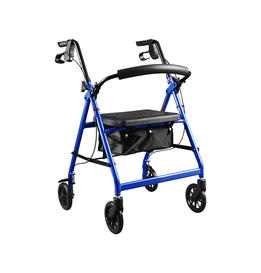Aluminum Walker Rollator with 6' casters