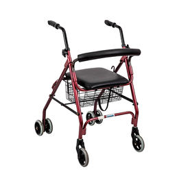 Push down lock rollator with 5' wheels