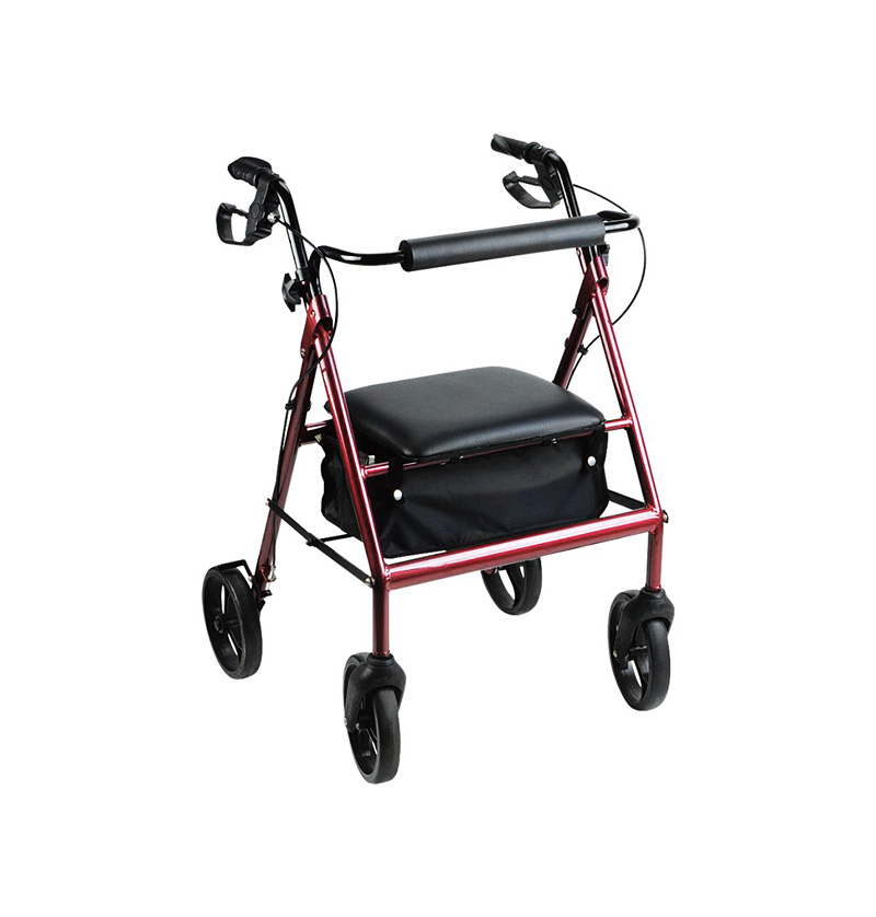 D012 Aluminum Rollator with 8' casters