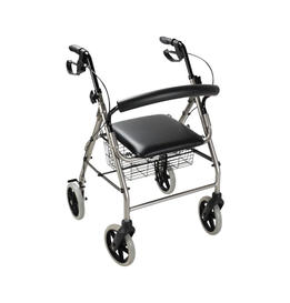 Medical Folding Aluminum Rollator with 8' casters