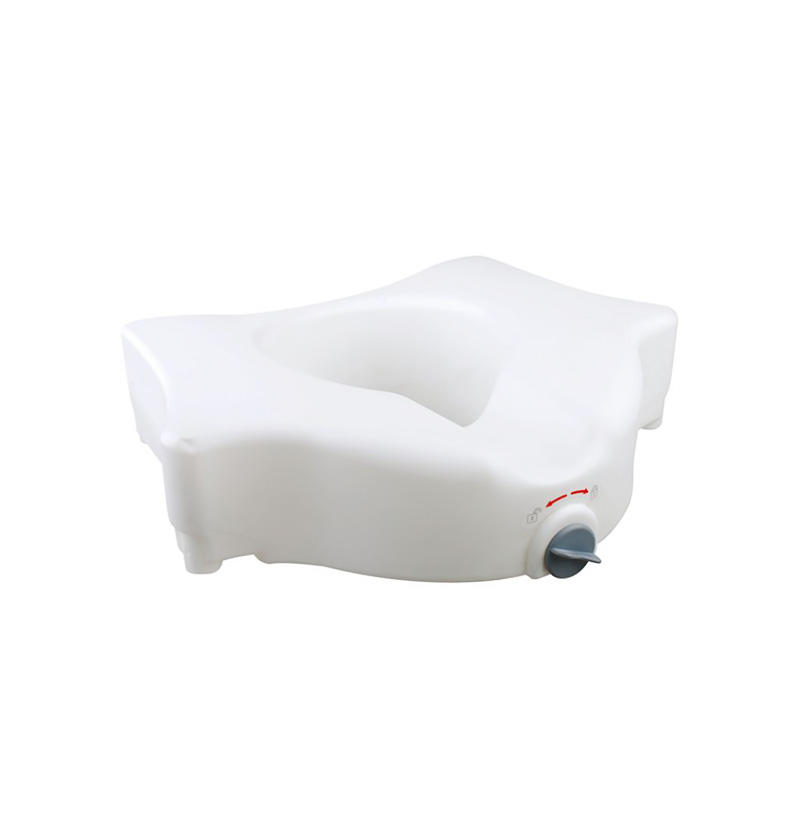 E-Z lock Raised Toilet Seat W/O Handles, add 5' height