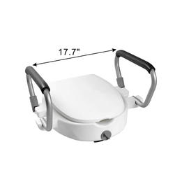 E-Z lock Raised toilet seat with handles & lid