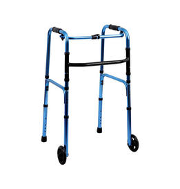One-button Standing Folding Walker With Wheel